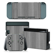 NINTENDO Switch Design pelle sventa Adesivo PROTEZIONI Set - Grey legno Motif