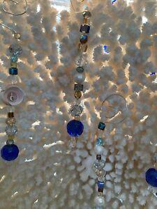 Glass, Crystal, Pearls, Shells Christmas ORNAMENT BOHO, BEACH,SEA, OCEAN COASTAL