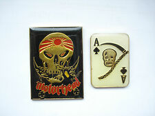 SALE RARE VINTAGE MOTORHEAD ACE OF SPADES HEAVY METAL MUSIC ROCK BAND PIN BADGE