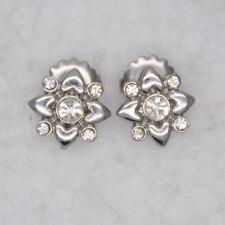 lia sophia jewelry stud earrings cut crystals silver tone flower