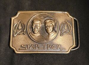 Star Trek Spock & Kirk Belt Buckle 1979 Paramount