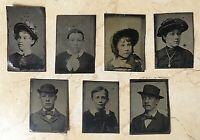 (7) ORIGINAL- U.S. CIVIL WAR FAMILY GEM SIZE TINYPE PHOTO'S