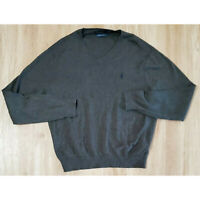 Polo Ralph Lauren Mens Sweater Size Large Pima Cotton Gray
