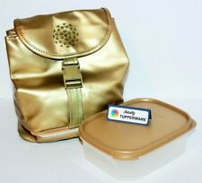 Tupperware Lunch Set Gold Modular Mate 3.5 Cup Mini Rectangle #1 + Bag w/ Strap