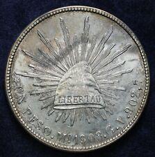 1908 Republic Mexico 1 Peso Silver
