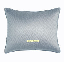 Dransfield & Ross Vannerie Rain Silvery Blue Quilted Standard Pillow Sham Nwt