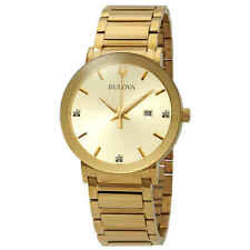 Bulova Diamond Gold Dial Men's Watch 97D115