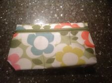 Clinique Floral Green, Yellow, Orange, Blue, and Pink Makeup Bag/Case