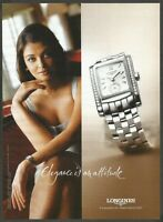 LONGINES watches since 1832 - 2004 Print Ad (not real product)