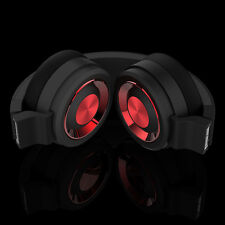 New Black-Red headset stereo HIFI for gaming music phone laptop Tablet PC /Mic