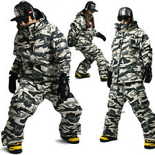 Mens SOUTH PLAY Waterproof Ski Snowboard Jumper Suits Jacket + Pants SET 004