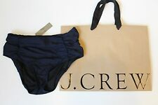 NWT J Crew Pinup Bikini Brief in NAVY Sz Small B5810