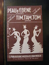 Partition Skin d'Ebène Oniz Tim Tam Tom Samba Pedro Oniz