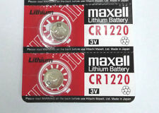 Japan made Maxell CR1220 1220 3V cell coin button battery for calculator x2 pcs