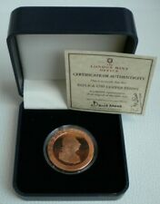 More details for copper penny re-strike  britannia 1797 with certificate of authenticity & box