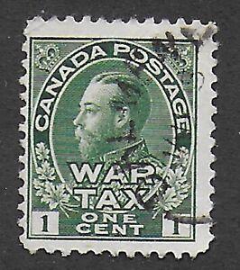 Canada, 1915, 1c green, War Tax, SG 228;  Sc MR1, used.