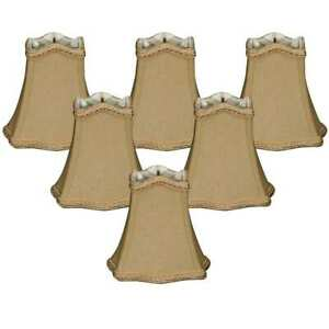 NEW n BOX Lot of 6 Royal Designs Antique Gold w/Decorative Trim Hexagon Beige