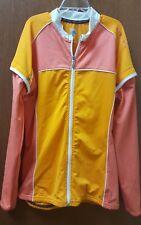 Descente Womens BIKE Cycling Jacket w/detachable sleeves. Orange. NEW. NWT. LGE