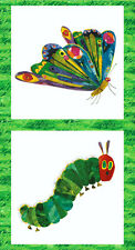 "The Very Hungry Caterpillar Cotton quilt fabric by Andover 22"" Blocks panel"