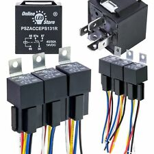 OLS 12v DC 40/30 Amp 5-pin SPDT Automotive Relay Harness Set Bosch Style 6 Pack