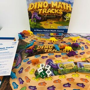 Learning Resources Dino Math Tracks Board Game Dinosaurs
