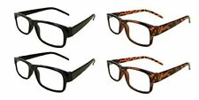 Mr.Reading Glasses[+3.75]4 Pair- 2 Black 2 Tortoise Plastic Frame Wholesale 3.75