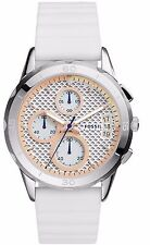 Fossil MODERN PURSUIT Chronograph White Silicone Strap Watch  ES4024 $135