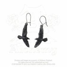 Orecchini di bigiotteria pendenti neri in acciaio