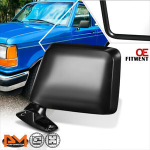 For 83-92 Ford Ranger/Bronco II OE Style Manual Side Rear View Door Mirror Left