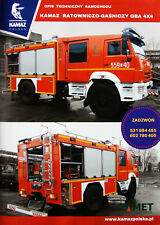 Kamaz Fire Trucks 43265 & 43502 4x4 2018 brochure catalogue Feuerwehr Popiers