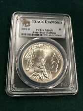 2001 D Black Diamond Silver Commemorative Coin PCGS MS69 American Buffalo