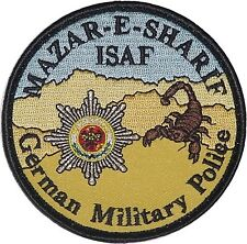 Aufnäher Patch ISAF MATAR-E-SHARIF German Military Police .........A4881K