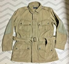 (M, L) Polo ralph Lauren Belted Biker Jacket, washed cotton, Spring/Fall Jacket.