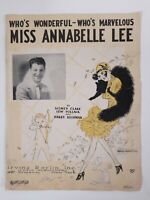 MISS ANNABELLE LEE 1927 Flappers Styles LADIES deco SHEET MUSIC pop Culture
