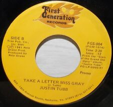 1981 JUSTIN TUBB PULL THE COVERS OVER ME ROCKABILLY FIRST GENERATION PROMO 45