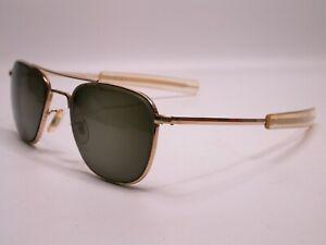 Vintage American Optical Gold Pilot's Shades Frames Sunglasses