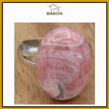 AGATE RING STERLING SILVER STATEMENT NATURAL AGATE COCKTAIL FINGER SIZE 7