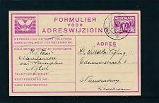 1,5 Cent Ganzsachen-Karte 1934 Formulier voor Adreswijziging  18/6/15