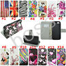 Flip Magnetic Wallet PU leather stand Silicone phone cover case for Apple Lenovo