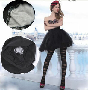 Hot Sexy Women Fashion Striped Bandage Tights Pantyhose Black Thin Stockings New