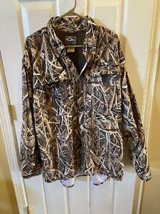 Men's XL  DRAKE WATERFOWL SYSTEMS  Mossy Oak Camo Long Sleeve Shirt