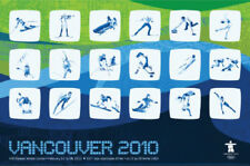 Vancouver 2010 Winter Olympic Games Official Sports Event Icons Original POSTER