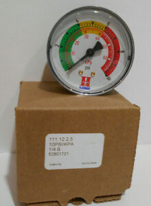 """2 1/2"""" Pressure Gauge 10 psi 3 Color Alert 52801731 111.12 Back mount 1/4 NPT"""