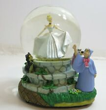 DISNEY SNOWGLOBE MUSIC BOX CINDERELLA WITH FAIRY GODMOTHER BIBBIDI BOBBIDI BOO