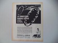 advertising Pubblicità 1963 SEGMENTI PERFECT CIRCLE