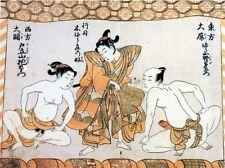 Erótico sumo luchadores de sumo Japón 1772, 7x5 pulgadas impresión reimpresión
