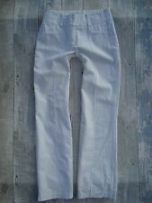 AWEAR White Linen Relaxed Trousers size 8R