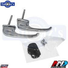 47-51 Chevy GMC Pickup Truck Outside Chrome Door Handle Set & Hdw PAIR NEW AMD