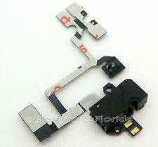 Black Headphone Audio Jack Power Volume Switch Flex Cable for iPhone 4 b78