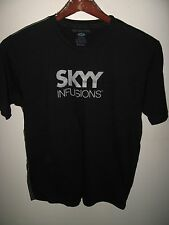 Skyy Infusions Vodka Martini Cocktail Glitter Thin Promo Black Muscle T Shirt M